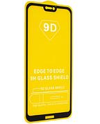 Защитное стекло Full Cover 9D на Huawei P20 Lite Black