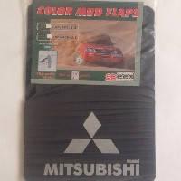 """Брызговики """"Mitsubishi"""" большие логотип + надпись (2шт) """"Speed Master"""""""