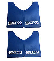 "Брызговики малые  синие - 4шт - ""SPARCO"" - 360х220 (резино-пласт)"