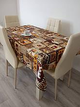 Скатерть столовая 220х150 см из рогожки Кофе TRA-3-344