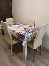 Скатерть столовая 220х150 см из рогожки Лаванда TRA-3-315