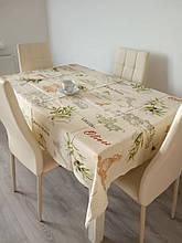 Скатерть столовая 220х150 см из рогожки Оливка TRA-3-314