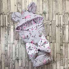 """Детский летний конверт на выписку """"Ушки"""", конверт-одеяло, нарядный конверт на выписку (Лето), фото 3"""