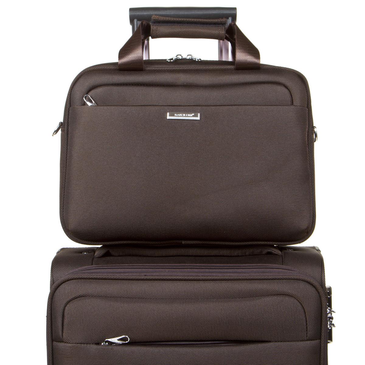 Дорожная универсальная сумка-бьютик BagHouse с креплением на ручку чемодана 38х29х15 ксГЦ868кор