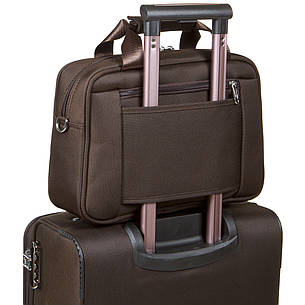 Дорожная универсальная сумка-бьютик BagHouse с креплением на ручку чемодана 38х29х15 ксГЦ868кор, фото 2