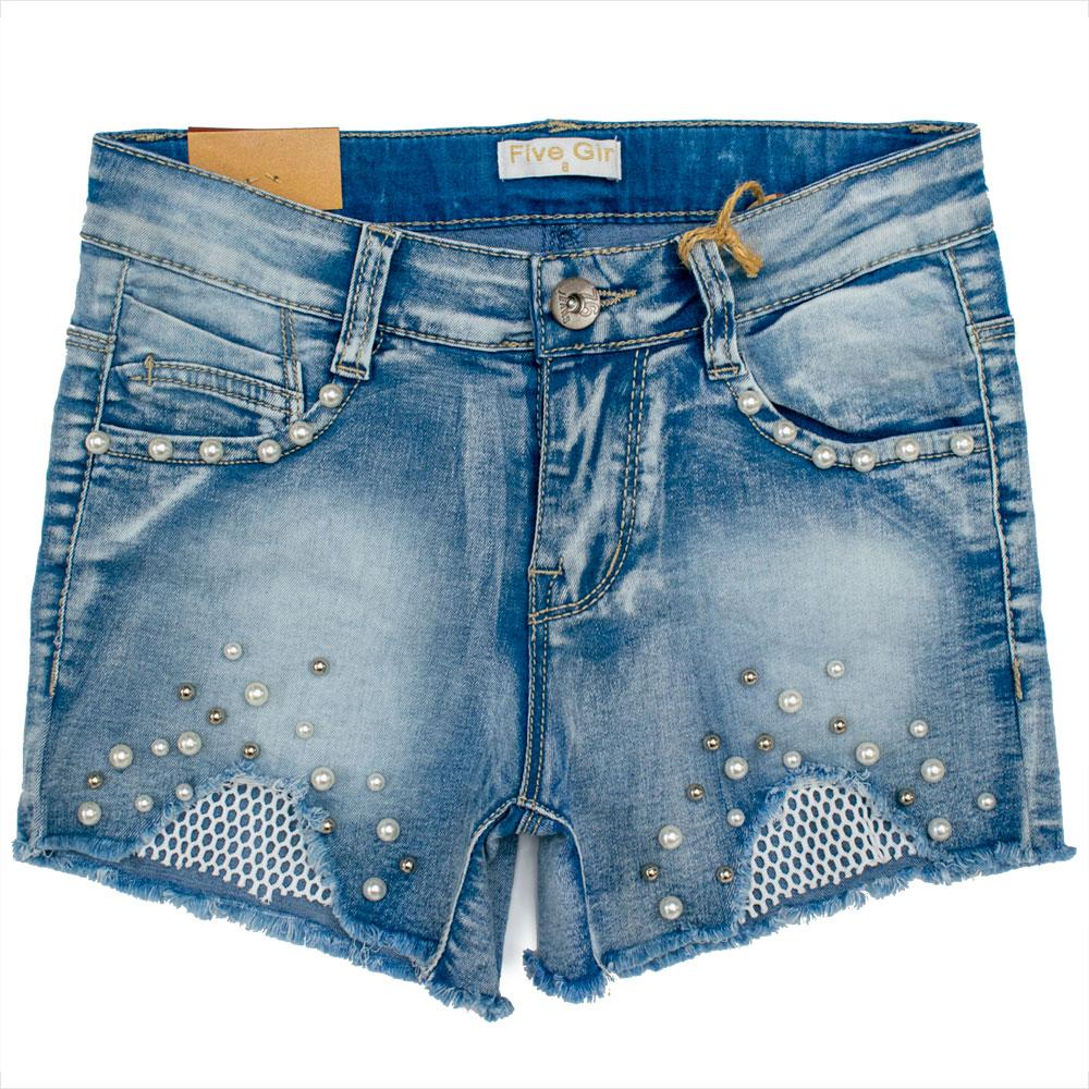 Шорты для девочек Five 116  синие YL482