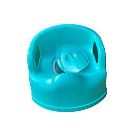 Горшок кресло детский пластиковый Консенсус SL Люкс бирюзовый с крышкой