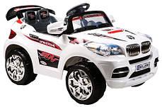 Детский Электромобиль Джип BMW X8 белый на радиоуправлении, фото 2