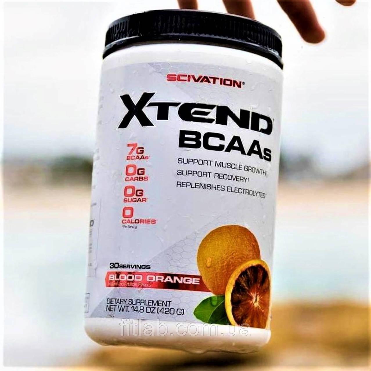Scivation Xtend Bcaa 30 порций, 420 г  Икстенд BCAA, бца аминокислоты для набора массы мышц