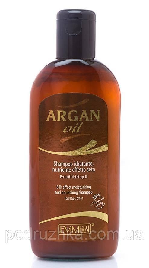 Шампунь «Эффект шелка» с аргановым маслом Emmebi Argan silk effect shampoo, 200 мл