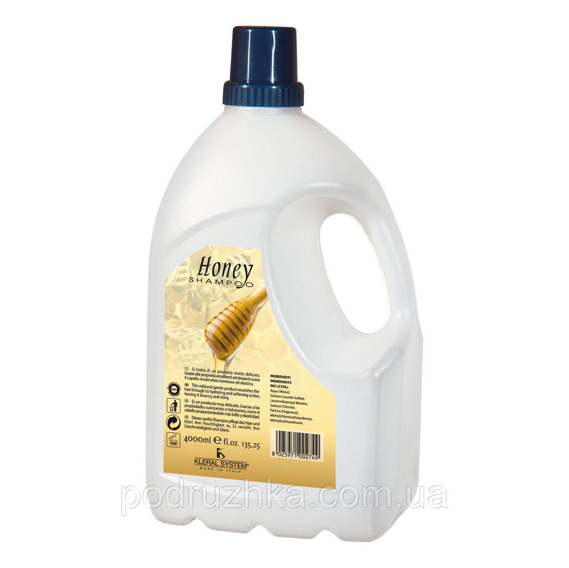 KLERAL SYSTEM Shampoo Honey Медовый шампунь, 4000 мл