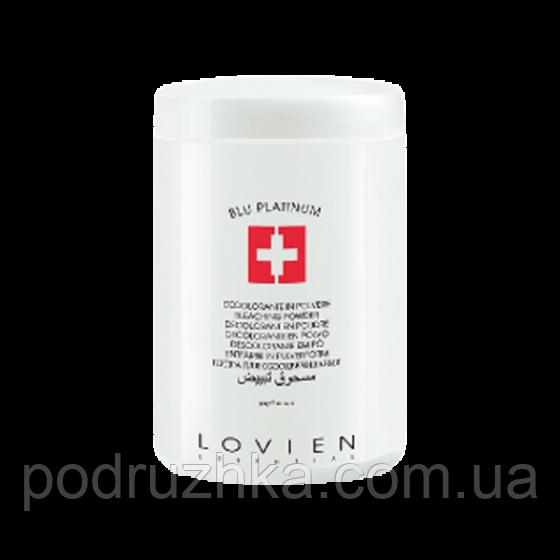 Аммиачная пудра для обесцвечивания волос, голубая Lovien Essential Bleaching Powder Blue Platinum 400гр.