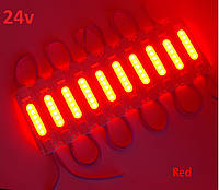 Світлодіодний модуль COB 2 W 24v Червоний Samsung ультра яскравий водонепронекний