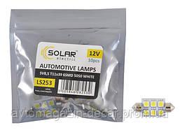 "Светодиод 12V 39mm T11 6SMD (5050) белый (10шт) ""Solar"" LS253_P (пол.пакет)"