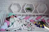 """Детские бортики в кроватку """" Косичка """",розовая косичка бортик в кроватку,защита розовая в кроватку, фото 2"""