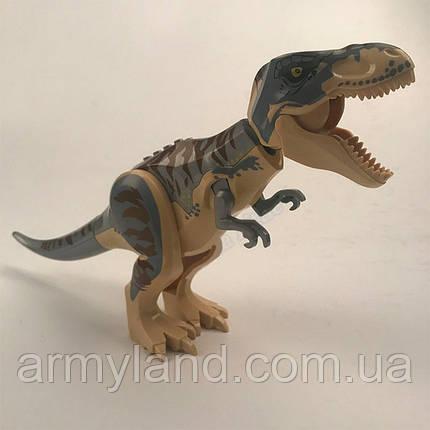 Динозавр Теранозавр Серебристый Юрский период Конструктор, аналог Лего, фото 2
