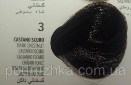3 Темно-Каштановый, крем-краска с арганой и кератином, Team155