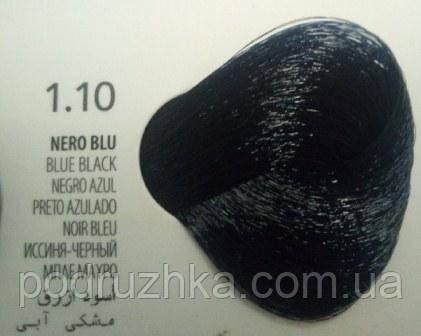 1.10 Иссиня-черный, крем-краска с арганой и кератином, Team155