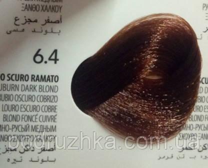 6.4  Темно - Русый медный, крем-краска с арганой и кератином, Team155