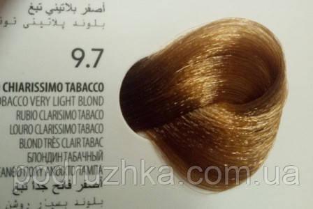 9.7 Блондин табачный, крем-краска с арганой и кератином, Team155
