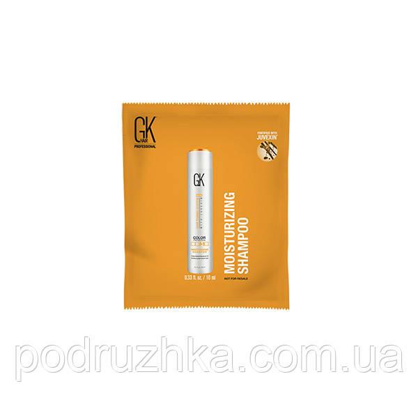 Увлажняющий шампунь Moisturizing Shampoo GKhair (Global Keratin), 10 мл