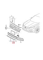 "Решётка бампера нижняя (центр) парктр.""+""   VW Passat B8 2015-2018 USA     561853671J RYP"