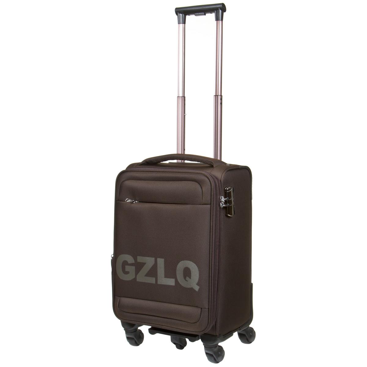 Чемодан малый  BagHouse 36х57х23(+3) коричневый с расширением    ксГЦ868корм