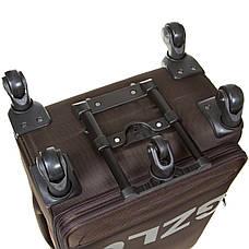 Чемодан малый  BagHouse 36х57х23(+3) коричневый с расширением    ксГЦ868корм, фото 3