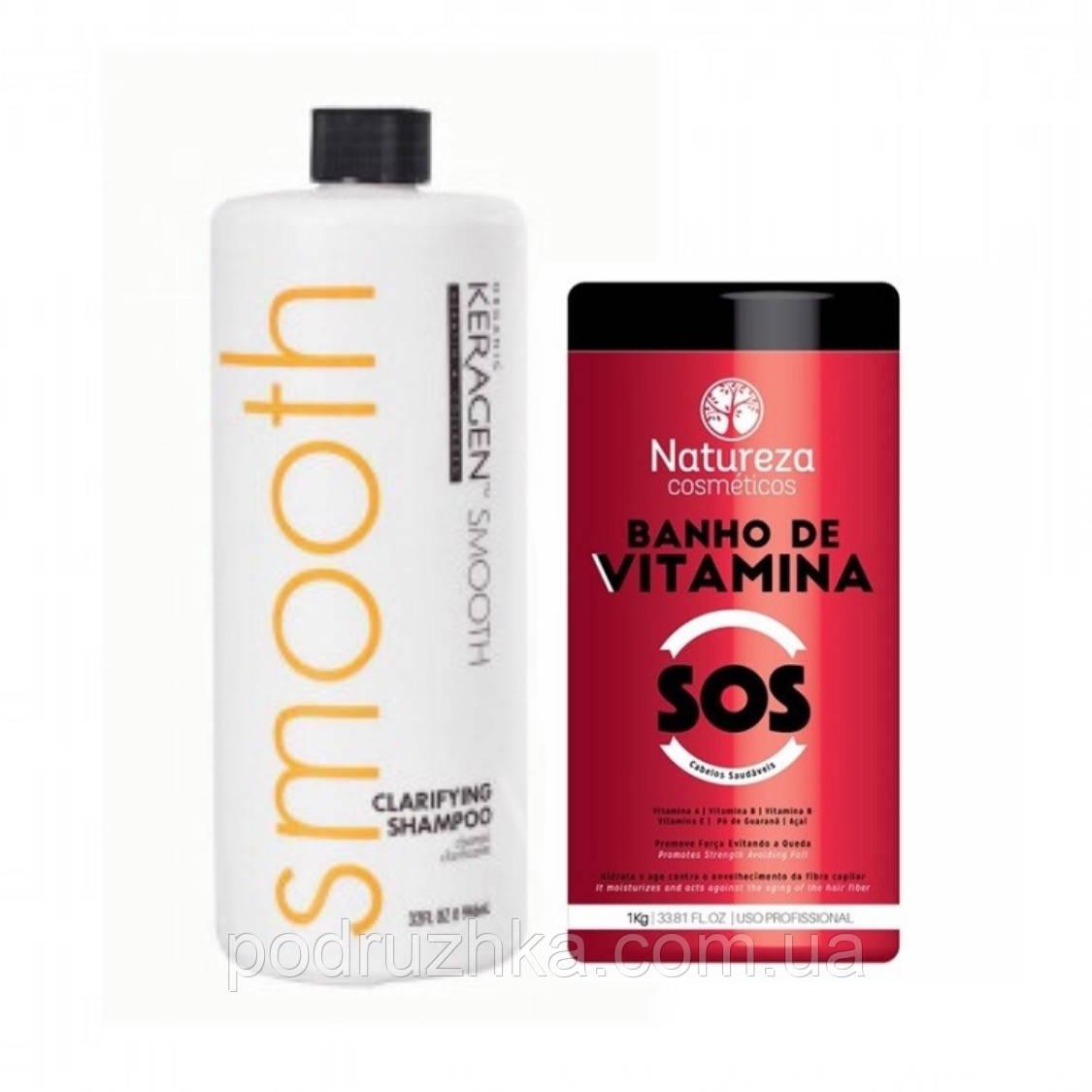 Набір ботекс-відновлення волосся NATUREZA SOS Banho de VITAMINA, 2х1000 р