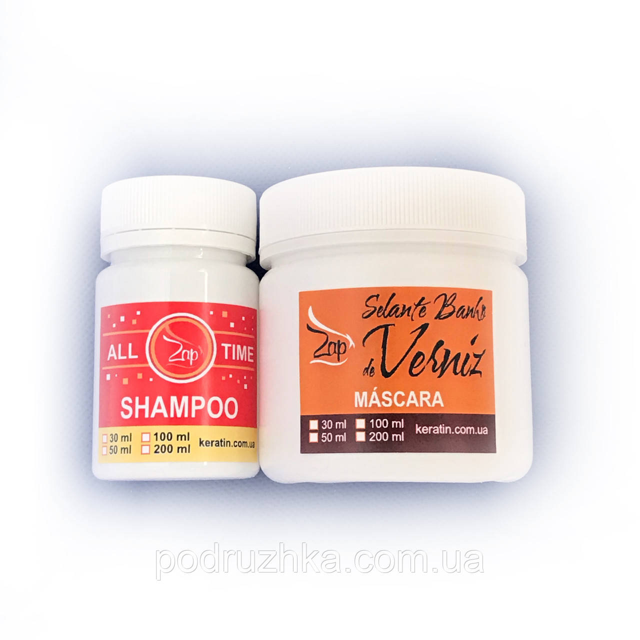 Набор ботекс-глянец для волос Zap Ztox Banho de Verniz 50/100 г