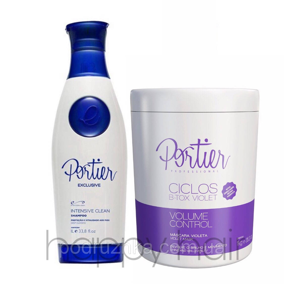 Portier Ciclos Violet B-TOX Маsk Набор ботекс для волос 2х1000 г