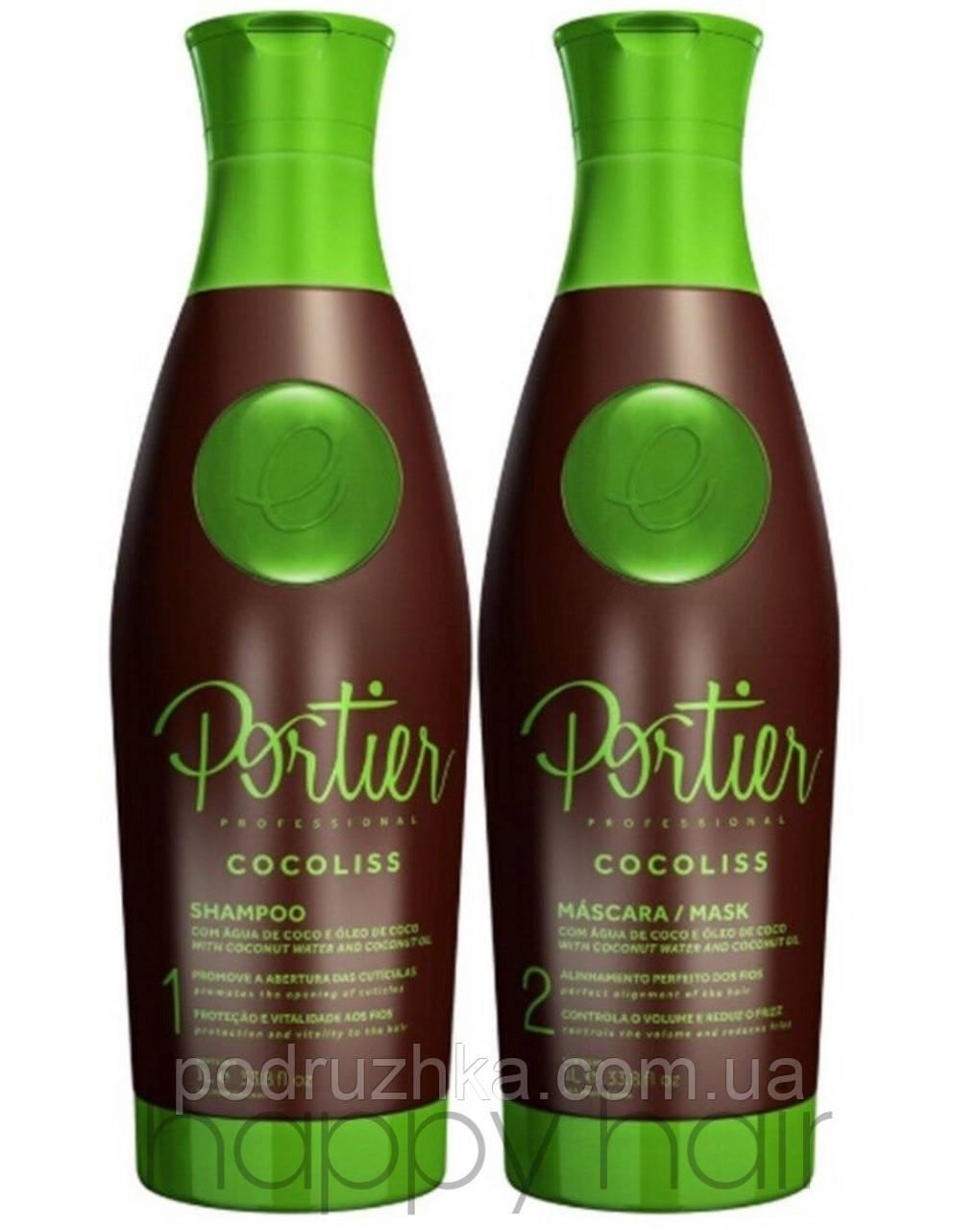 Portier Cocolis Набор для кератинового выпрямления 2х1000 г
