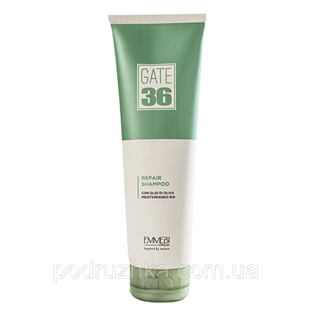 Emmebi Italia Gate 36 Oliva Bio Repair Shampoo Безсульфатный восстанавливающий шампунь, 250 мл