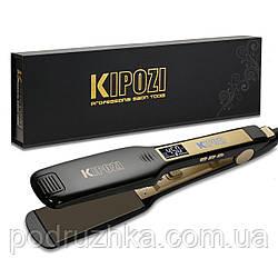 Kipozi Профессиональный утюжок для кератинового выпрямления волос c титановыми пластинами и дисплеем