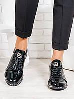 Туфли черные лаковая кожа 6676-28