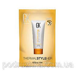 Защитный крем для горячей укладки волос GKhair (Global Keratin) Hair Thermal Style Her, 10 мл