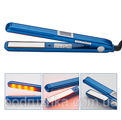 Инфракрасный ультразвуковой утюжок для восстановления и лечения волос (синий)