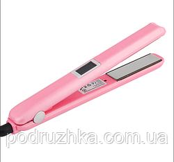 Инфракрасный ультразвуковой утюжок для восстановления и лечения волос (розовый)