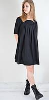 Стильное женское платье короткое очень свободный крой расклешенное от груди   Турция, фото 1