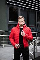 Красная модная мужская демисезонная куртка