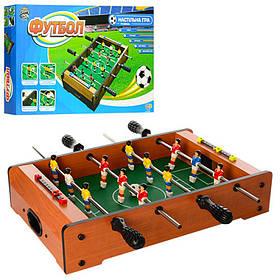 Настольный футбол деревянный 49*31 см. на штангах. В коробке