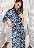 Платье макси штапельное рубашечного кроя с пуговками по всей длине,под поясок,Р-р.S,M,L,XL  Код 352Т, фото 5
