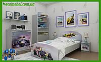 """Подростковая кровать """"Formula 1"""" серый"""