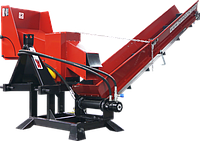 Измельчитель веток Remet R-120+транспортер 2,3 м (110 мм, 6 ножей, 25 л.с., BOM, транспортер), фото 1