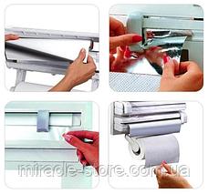 Кухонный диспенсер для фольги и полотенец Kitchen Roll Triple, фото 3