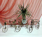 Подставка для цветов кованая Велоcипед Мальва черный/золото, фото 7