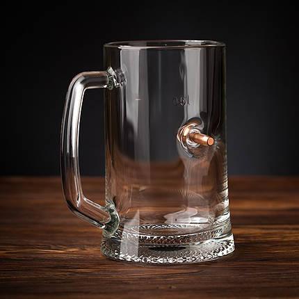 """Бокал для пива с пулей """"Кухоль"""", фото 2"""