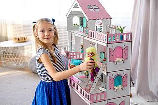"""Кукольный домик NestWood """"Большой особняк для кукол ЛОЛ"""" + Подарок мебель 9 единиц, фото 3"""