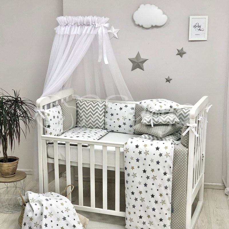 Baby Design Stars сірий
