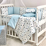 Постільний набір в ліжечко Baby Design Stars блакитний, фото 4